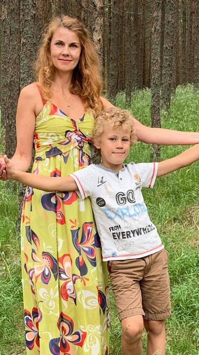 Елена с сыном Сашей